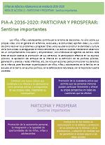 Clic para descargar PIA-A 2016-2020: PARTICIPAR Y PROSPERAR. Sentirse importantes