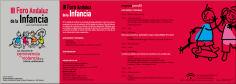 Programa del tercer Foro Andaluz de la Infancia
