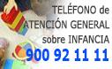 Teléfono de información general en materia de infancia: 902 102 227