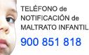 Teléfono de notificación de posibles situaciones de maltrato infantil: 900 851 818